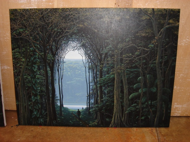 through the gate of seeking, all Truth is found. this is a work by my friend, tomas sanchez, of costa rica. his work is filled with the kind of exciting, gorgeous discoveries that make being alive so magical as i feel, as tomas does too. and you? we hope so; if not, keep looking deeper into this painting. you will find the invitation to discover what you need, right there, in the Light.