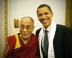 our new prez & amigo, the Dalai Lama