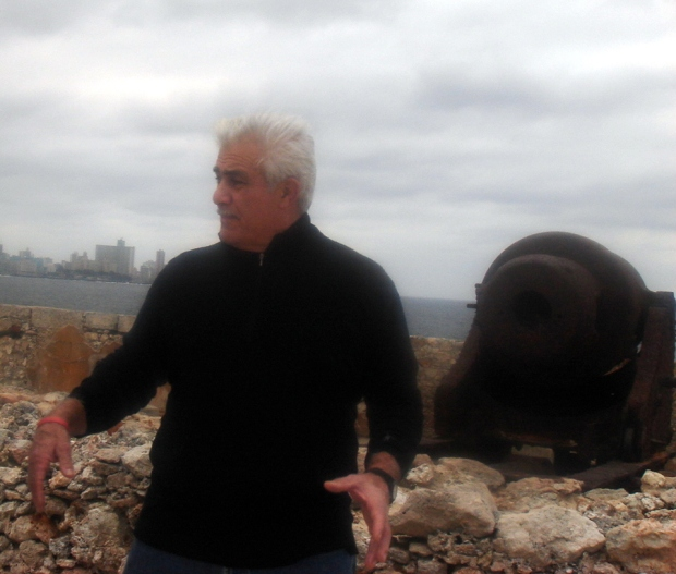 Don Chiofaro at the fort in Habana