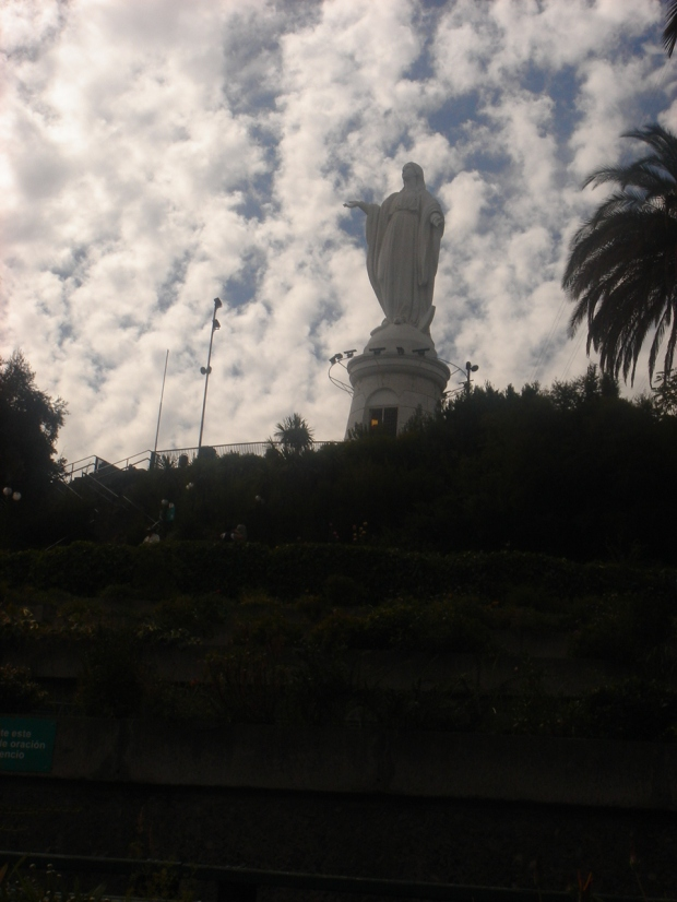 Mother Mary watching out, in Santiago