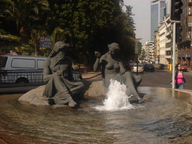 Neptune and Aphrodite, Santiago, Chile public art fountain