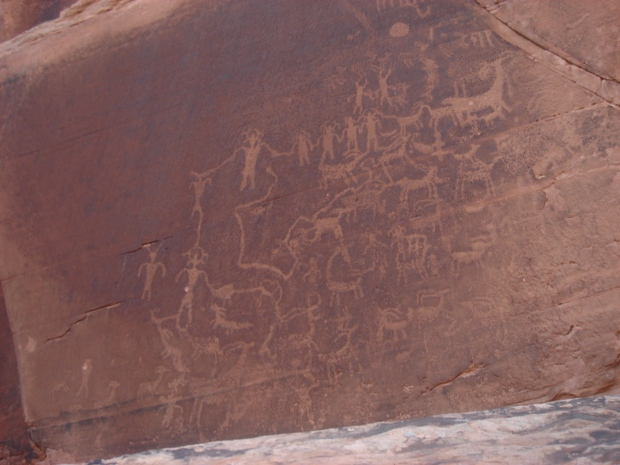 petroglyphs! thousands of years-old messages from The People