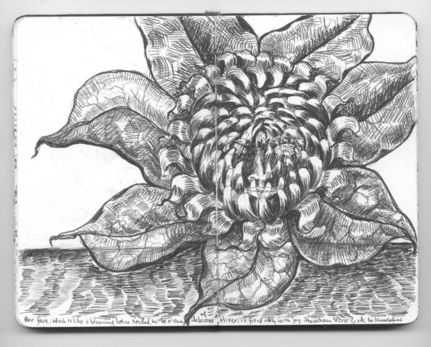 the many-petalled lotus of the awakened One