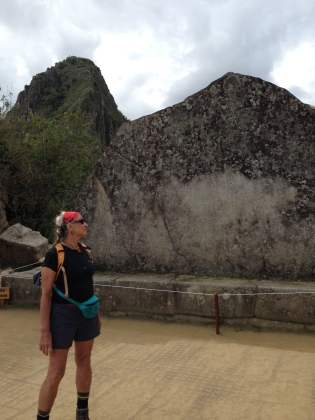 LordFlea standing before the Sacred Rock of Matchupicchu, honoring Juanapicchu, in background