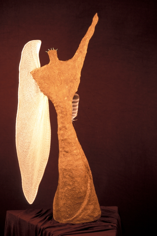 "One-armed Angel (view 1), mixed meida, 30""x15""x8"""